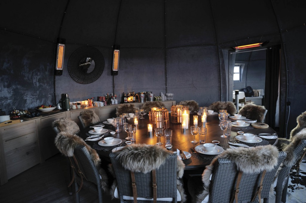The new dining room has little competition for Antarctica's best restaurant.