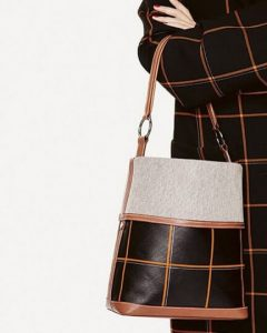 hermes bags canvas leather bucket bag