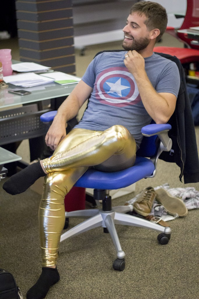 gold man leggings