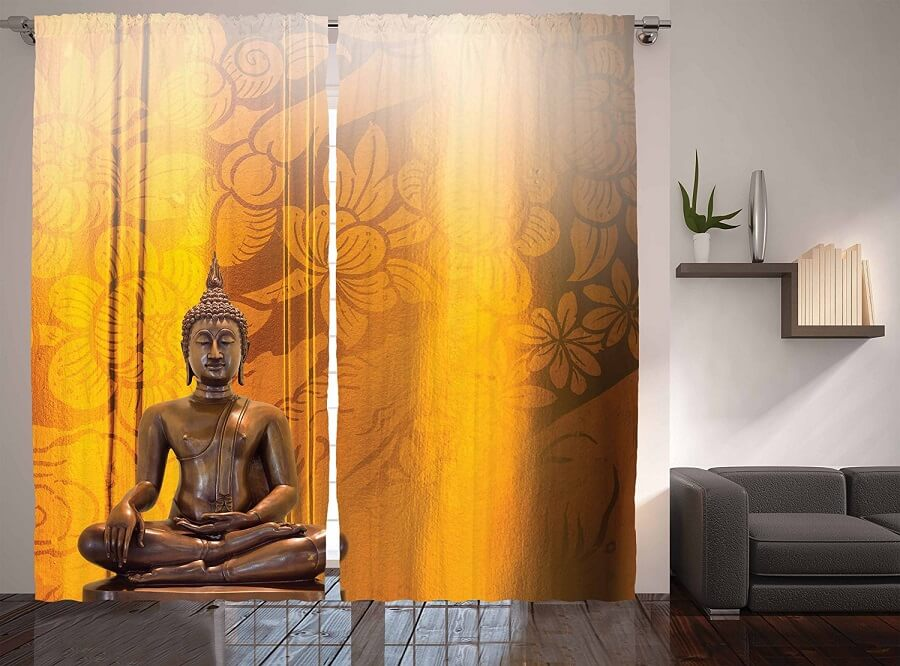 Ambesonne Curtains interior design background