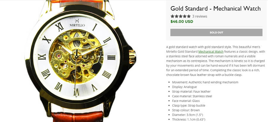 Gold Standard Watch from Weird Ape weird ape