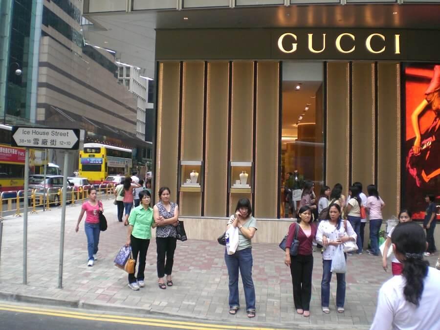 Gucci store in Hong Kong Gucci brand