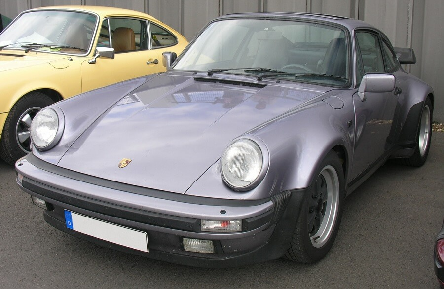 Porsche cars in the 70s