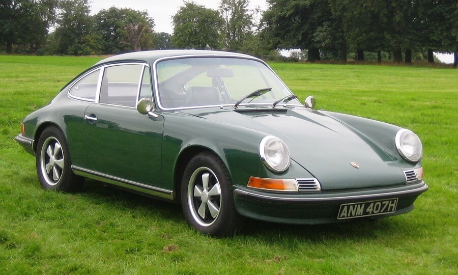 Porsche cars in the sixties