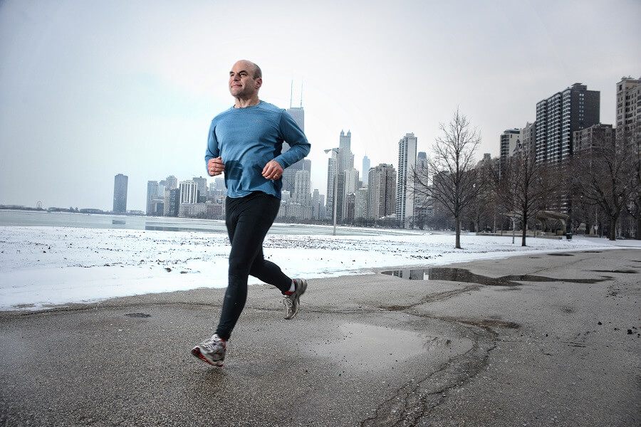 Man Running fitness trackers