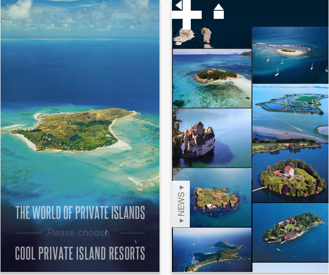 private islands app
