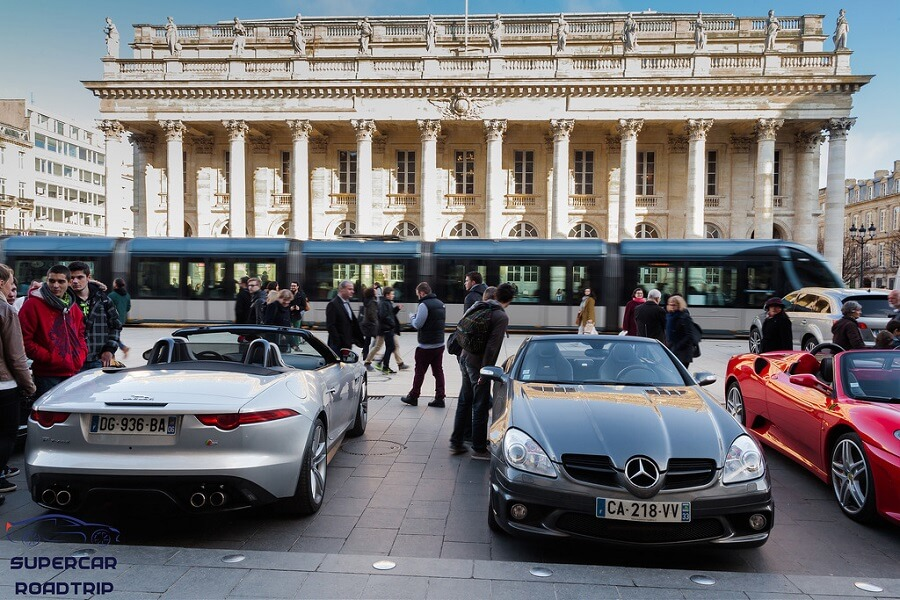 Supercars in Bordeaux luxury rental cars