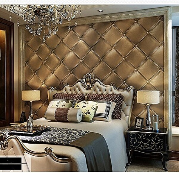 3D Faul-leather background interior design background