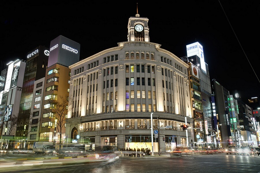 Ginza district, the place to buy Japanese Luxury Brands