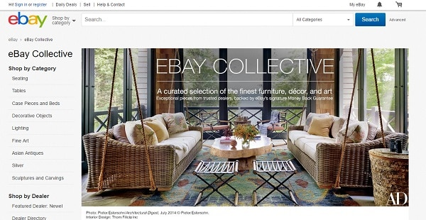 eBay collective main page website