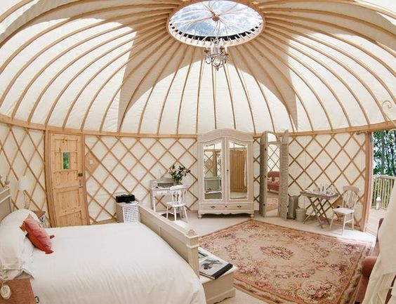 glamping fancy yurt