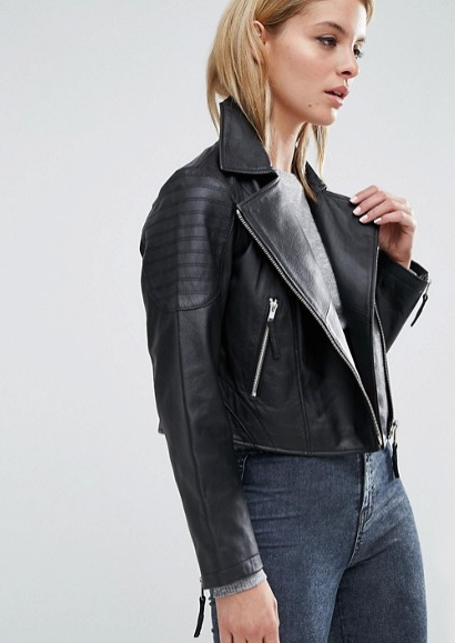 asos cropped moto jacket