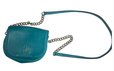 Turquoise Leather Crossbody Bag