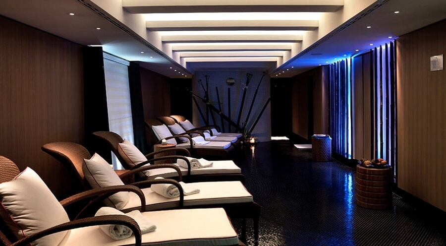 the interior of a luxury spa