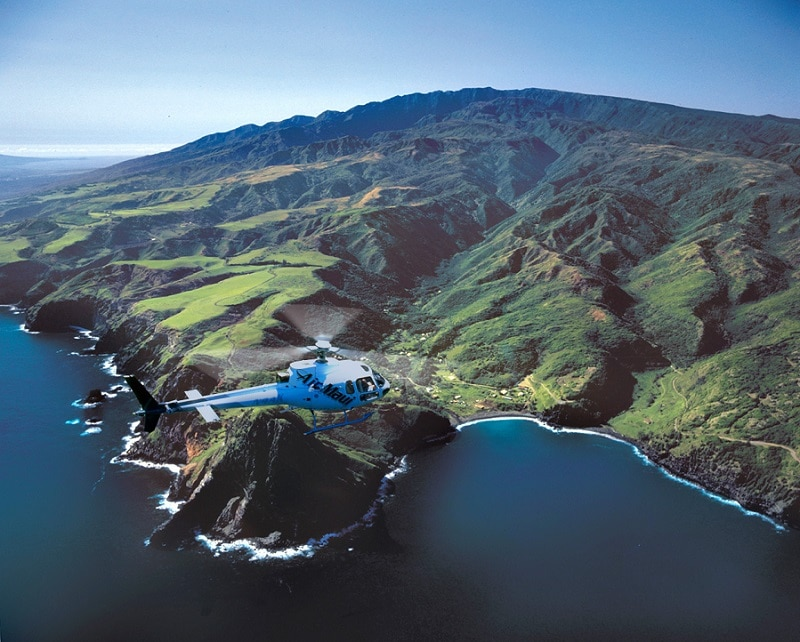 helicopter ride over Maui