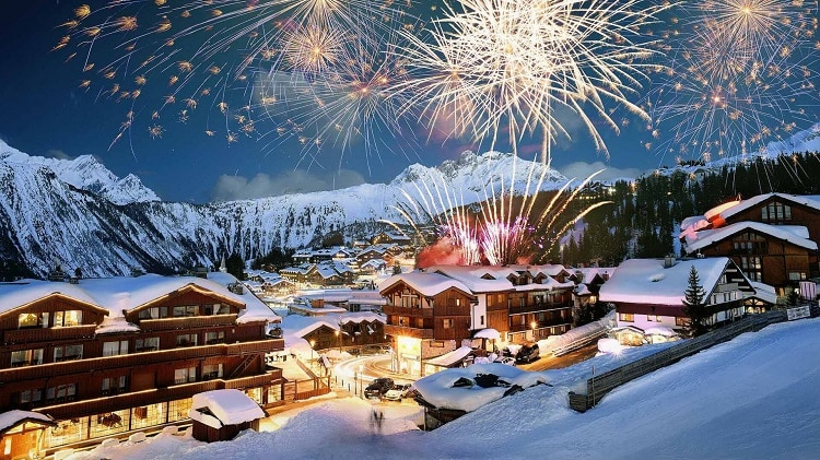 part of courchevel covered in snow