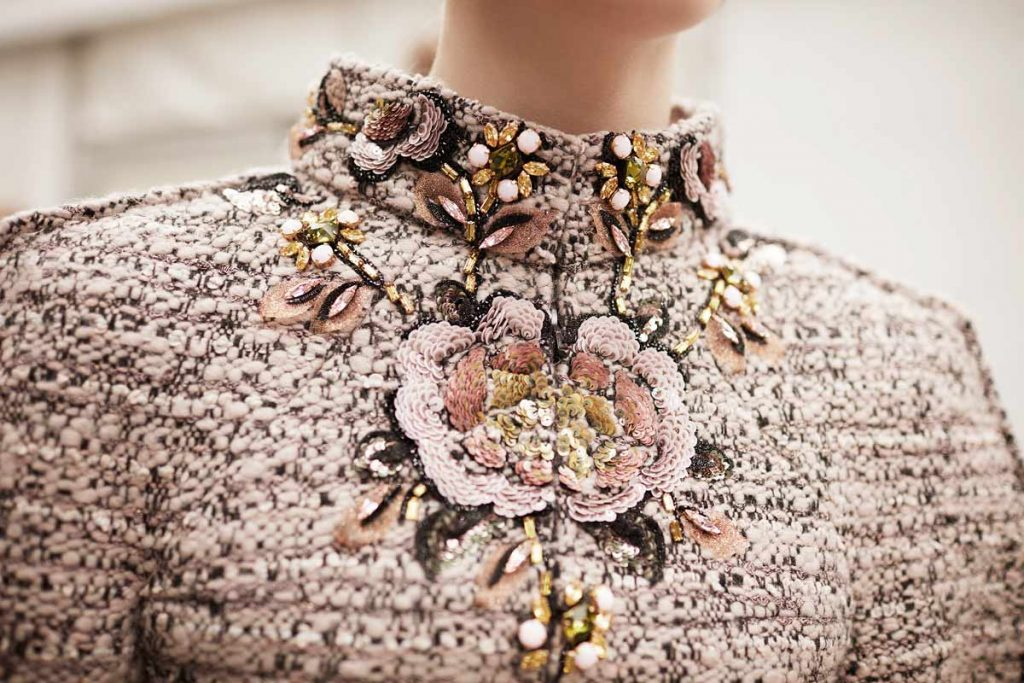 luxury fashion brands chanel new collection embroidery details