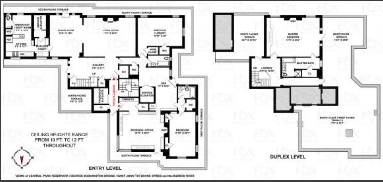 Barbara Streisand penthouse floorplan