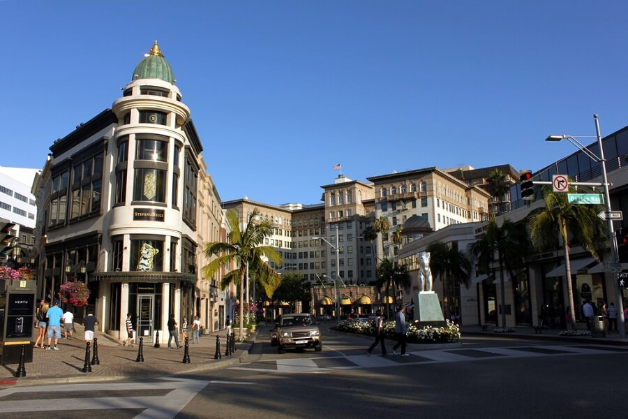 Rodeo Drive in Beverly Hills Luxury Condo Tower