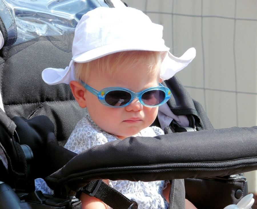 Cute Child in Luxury Stroller