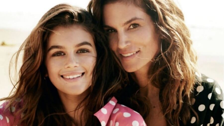 Cindy Crawford and Daughter Kaia Kerber Kaia Gerber