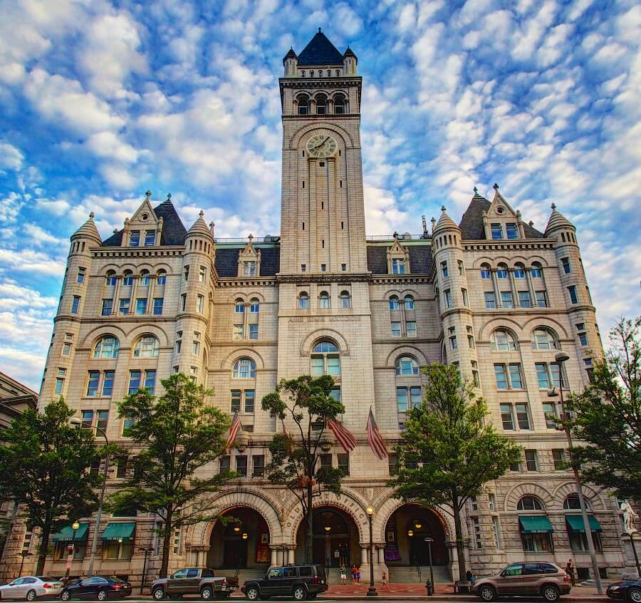 Old post office pavilion in Washington trump luxury hotel