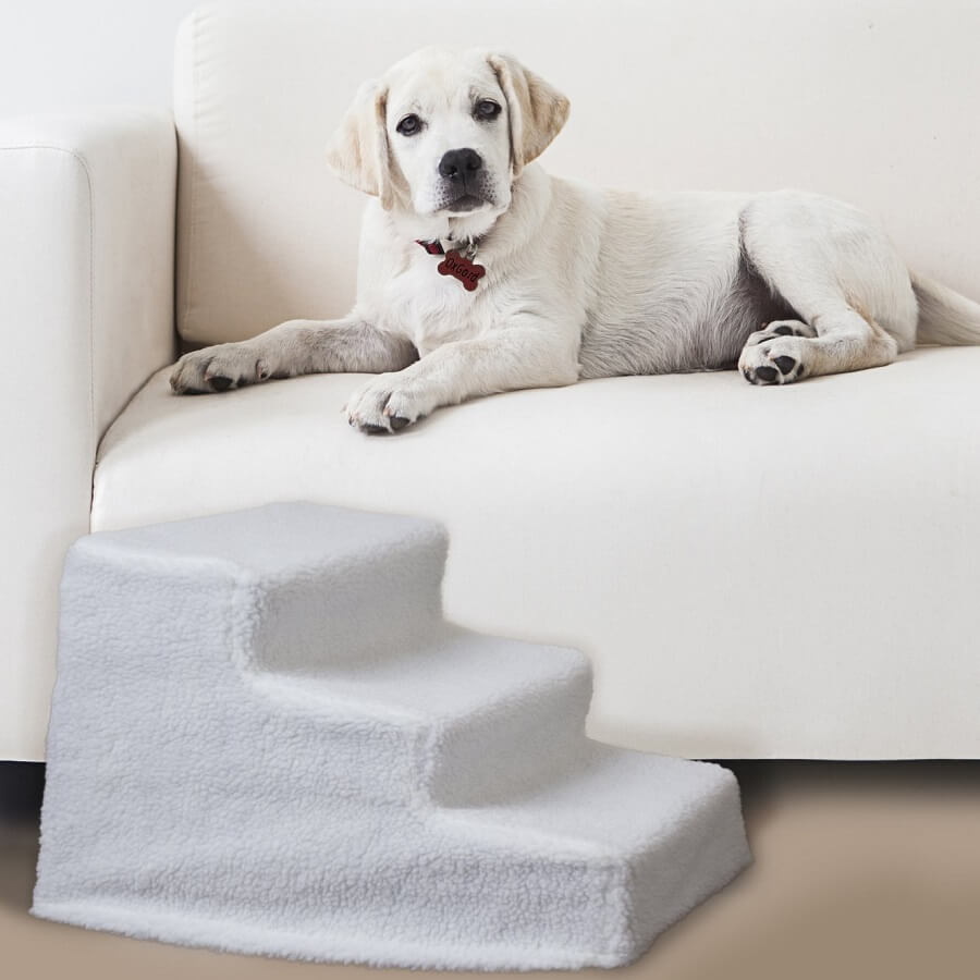 OxGord Stairs for the elevated dog bed