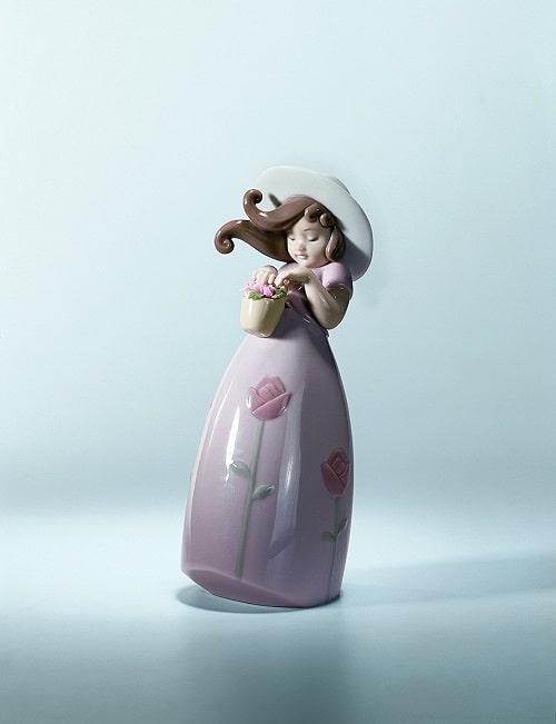 little rose flower figurine