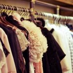 many dresses hanging in a closet