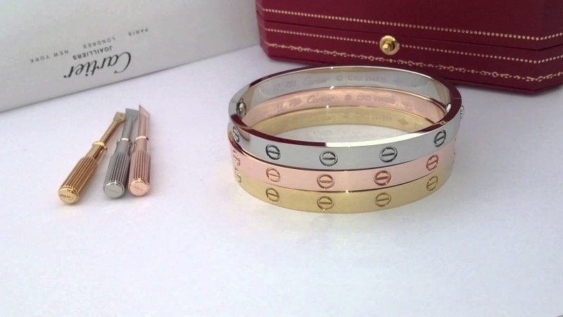 silver cartier love woman gold instant jewellery white ref luxe bracelet