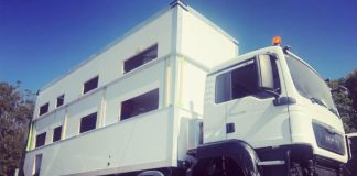 commander 8x8, luxury RV, two story rv